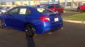 blue subaru 2017 new 2016 subaru wrx wr blue pearl youtube