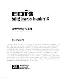 eating disorder inventory2 professional manual pdf download