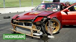 hoonigan rx7 twerk stallion hoonigan unprofessionals ep1 hert and rob crash into each other