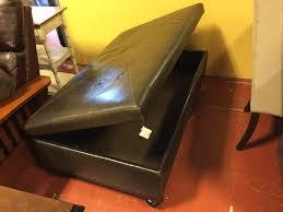 macy u0027s martha stewart leather storage ottoman 52 x 30