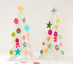 cardboard christmas tree colorful cardboard christmas trees and diy ornaments