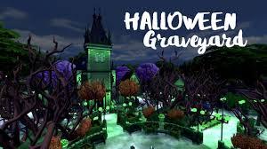 halloween graveyard sims 4 house build youtube