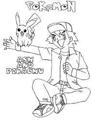 ash ketchum and pikachu best friend forever on pokemon coloring