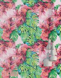 floral removable wallpaper tropical monstera blossom wallpaper removable wallpaper