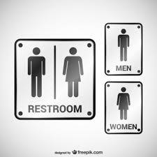 Mens And Womens Bathroom Signs Toilet Man Women Icons Free Download