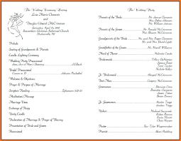 wedding ceremony phlet wedding ceremony template wedding ideas 2018