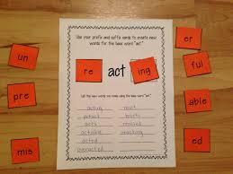 prefixes and suffixes center activity building words prefixes