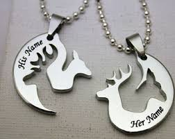 buck and doe couples necklace buck and doe couples necklaces with fawn and spike deer