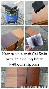 refinishing wood table without stripping how to stain with gel stain over an existing finish without