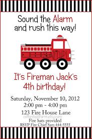 fire truck birthday invitations fire truck birthday invitations