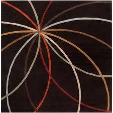 artistic weavers seletar brown 8 ft square area rug mcl 7108