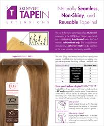 Skin Weft Seamless Hair Extensions by Skin Weft Tape Ins