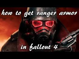 fallout 4 how to get ranger armor from new vegas xbox one youtube