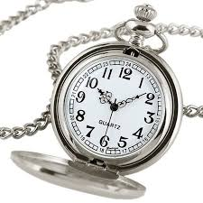 watch chain necklace images Steampunk pure silver pocket watch chain necklace pendant gift box jpg