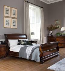 normandie mahogany 6ft super king sleigh bed frame u2013 upstairs