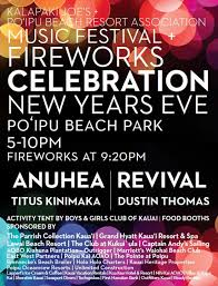 new year s celebrations live new years kauai best places for fireworks dinner