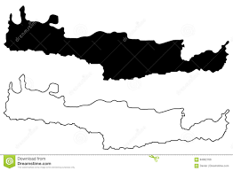 Crete Map Island Of Crete Map Vector Stock Vector Image 94602768