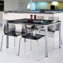 table cuisine verre table de cuisine en verre salle a manger avec table carrée