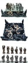 furniture inspiring dragon chess set with dinosaur skeleton and