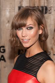medium haircuts one side longer than the other karlie kloss karlie kloss lob and bobs