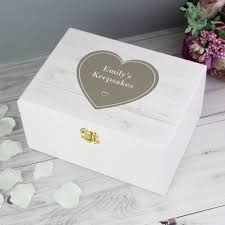 personalised keepsake box personalised rustic heart white wooden keepsake box real unique