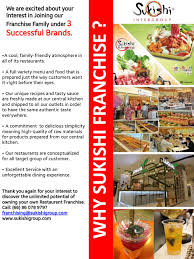 franchise cuisine why sukishi franchise sukishi