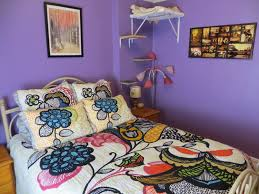 Elegant Bedroom Designs Purple Bedroom Enchanting Anthropologie Bedding With Purple Wall Decor
