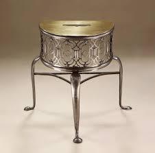 george ii brass u0026 steel demi lune fireplace trivet england c1750