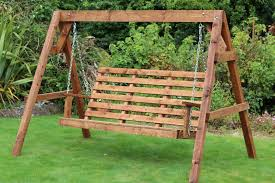wooden garden swing seat hammock