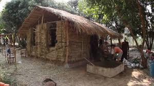 Thai Homes Hay Bale Mud House Weekend Khon Kaen Thailand Youtube