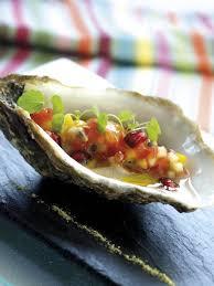 chef de cuisine philippe etchebest huîtres pochées aux fruits exotiques par chef philippe etchebest