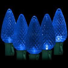 blue christmas lights led blue christmas lights 50 c9 faceted led bulbs 8 spacing 34 2