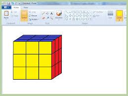 how to create a rubik u0027s cube on microsoft paint 11 steps