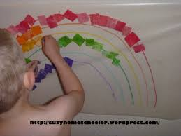 contact paper rainbows and contact paper fun suzy homeschooler