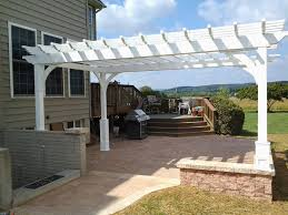 pergola design wonderful attached vinyl pergola wooden arbour