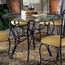 Hillsdale Bordeaux Round Dining Table With Glass Top Purchase - Kitchen glass table