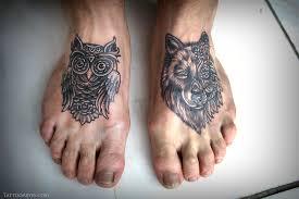mandala owl wolf foot tattoo tattoo abyss