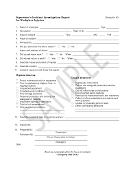 investigation report template investigation report sle 1