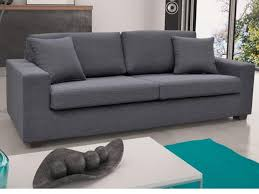 canape 3 places tissu canapé et fauteuil en tissu gris noir yudo