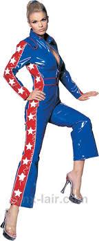 blue jumpsuit costume racer vinyl jumpsuit large white blue ua6145vlg