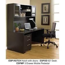 Office Hutch With Doors 1 63 32 Esp 1 32 20lr Esp Esp Return Espresso Return Desk Jesper