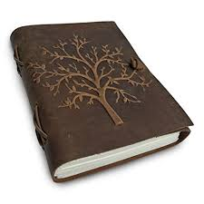 amazon com leather journal tree of life writing notebook