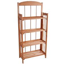 Sauder Five Shelf Bookcase by Amazon Com Lavish Home Four Shelf Light Solid Wood Bookcase 4