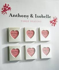 wedding magnets heart cut out mini magnet frame 3 pcs heart theme wedding