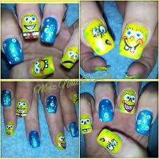 spongebob nail art nail art gallery