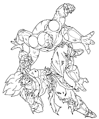 goku frieza colouring pages 2 coloring