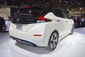 nissan leaf 2017 2018 nissan leaf rear three quarters right side at the 2017 dubai