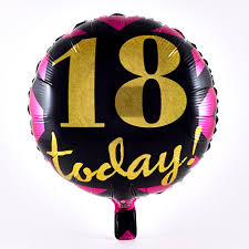 18 today pink gold u0026 black foil helium balloon card factory