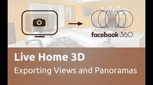 live home 3d tutorials exporting 3d views and panoramas youtube