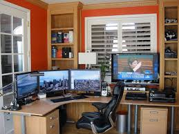 multi screen home office houses pinterest setup and desks
